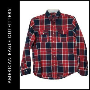 American Eagle Outfitters Men Plaid & Check Shirt